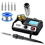 Holife Soldering Iron Station, 60W Soldering Station 200-480¡æ Adjustable Temperature, Soldering Iron Set
