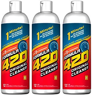 Formula 420 Glass Metal Ceramic Pipe Cleaner 12 Oz. 3 Pack