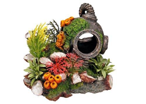 Nobby Casco con Plantas, Adorno de Acuario 13,5x 11x 12cm 🔥