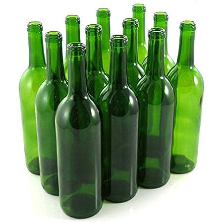 E.C. Kraus 750 mL Green Wine Bottles, Cork Finish