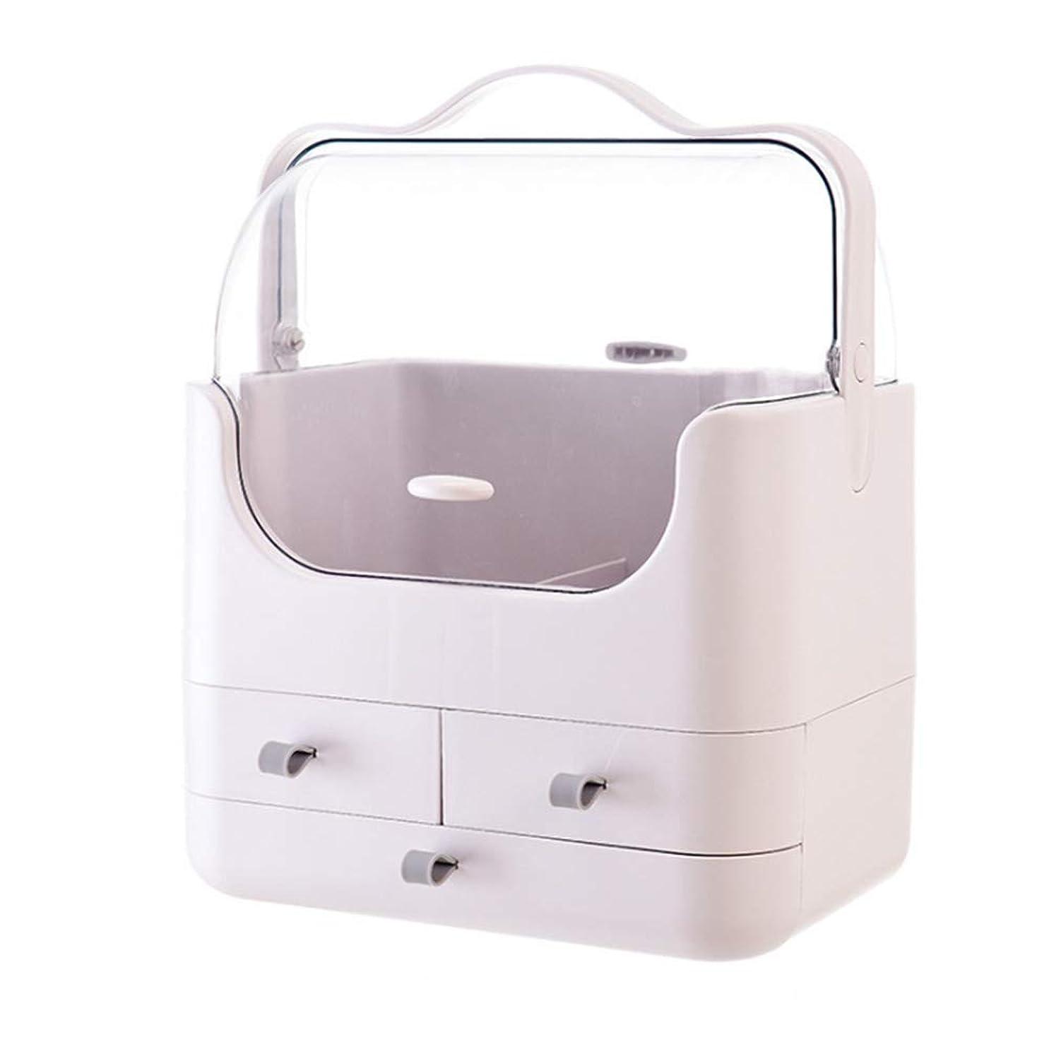 女性薬インキュバスHxiboj 化粧品収納ボックスデスクトップ防塵スキンケア収納ボックスドレッシングテーブル棚用バスルームドレッシングテーブル