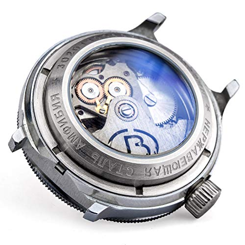 Vostok - Reloj automático para reloj ruso, 20 ATM, fondo de cristal (acero inoxidable mate)