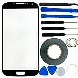 Juego de Reemplazo de Pantalla para Samsung Galaxy S4 t Incluye 1 Cristal de Reemplazo para Galaxy S4 i9500 / Par de Pinzas/Rollo de 2mm Tape Adhesivo/Juego de Herramienta/Microfiber Paño