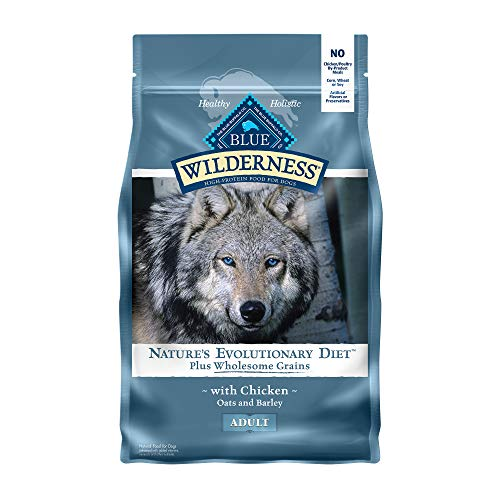 Blue Buffalo Wilderness High Protein Natural Adult Dry Dog Food plus Wholesome Grains Chicken 4.5-lb