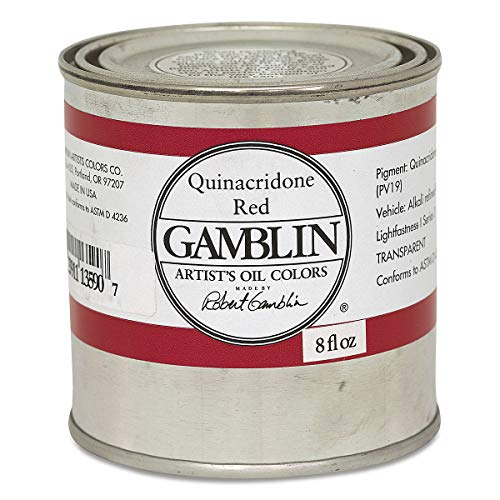 8 oz. Artists' Grade Oil Paints Color: Quinacridone Red