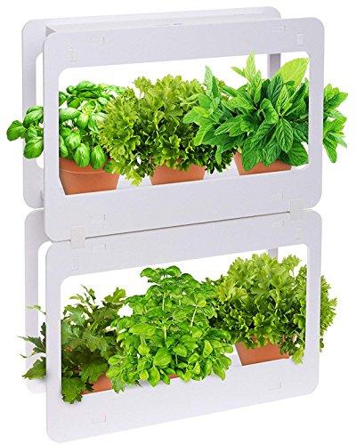 Mindful Design Stackable LED Indoor Garden Kit - Grow Herbs, Succulents & Vegetables