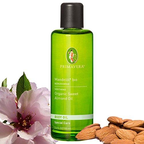 Primavera Bio Körperöl Massageöl 100% naturreine ätherische Öle, Duft:Mandelöl Bio