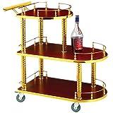 MM Panier de vin de Casse-croûte d'outil Mobile de beauté de Chariot à Banque d'hôtel de Chariot à thé de Taille de Chariot d'outil: Voiture de Service (Color : A)