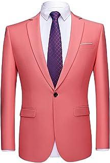 Men's Suit Jacket Blazers Slim Fit Stylish Casual Notched Lapel Suit Coat One Button Wedding Prom Dinner Party Blazer Busi...