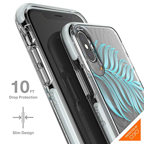 Gear4 Victoria Protective Fashion Case with Advanced Impact Protection [ Protected by D3O ], Slim, Stylish Design Compatible with iPhone X/XS – Jungle
