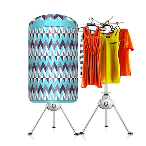 YXGH@ 1000W household quick-drying dryer 300L capacity best energy-saving round baby folding dryer with space heater timer, security protection Dryer (Color : Stripes-1000W)