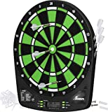 Fat Cat Sirius 13.5' Electronic Dartboard, Compact Size for Easy Install, Backlit Cricket Scoreboard, Easy to Use Button Interface, Optional Double in/Out Games, Durable Thermal Resin Segments