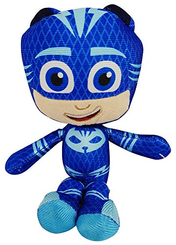 PJ Masks Gekko, Catboy oder Owlette Pyjamahelden Mini-Plüschfiguren 22cm zum Sammeln, Spielen und Knuddeln (Catboy)