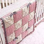 The-Peanutshell-Bella-Crib-Bedding-Set-for-Baby-Girls-3-Piece-Nursery-Set-Crib-Quilt-Fitted-Crib-Sheet-Dust-Ruffle