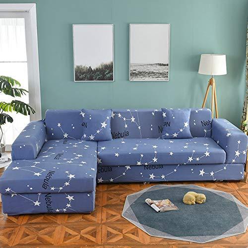 Funda de sofá nórdica Juego de algodón Funda de sofá Funda de sofá elástica para Sala de Estar para Adaptarse al sofá Chaise Longue en Forma de L D5 3 plazas 190-230cm-1pc