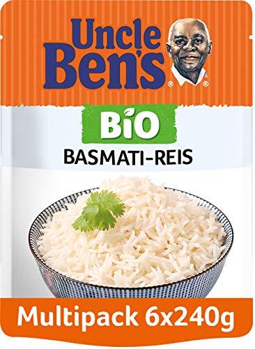 Uncle Ben's Express-Reis Bio Basmati, 6 Packungen (6 x 240g)