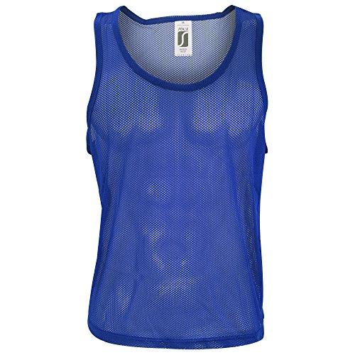 SOLS - Peto/Chaleco de Entrenamiento Futbol/Baloncesto/Balonmano Modelo Anfield - Equipos/Material Auxiliar (Extra Grande (XL)) (Azul eléctrico)