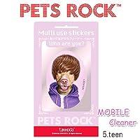【PETS ROCK ペッツロック マルチユース ステッカー】 (5.teen)クリーナー/モバイルクリーナー/タッコーダ/アイフォン/スマホグッズ/ペット/海外セレブ/ドッグ/パロディ (5.teen)