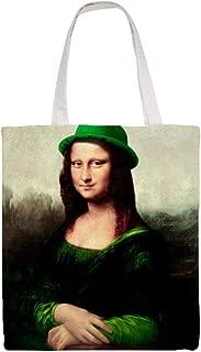 Cotton Canvas Tote Bag Lucky Mona Lisa Shoulder Grocery Shopping Bags Cloth Shopping Bag