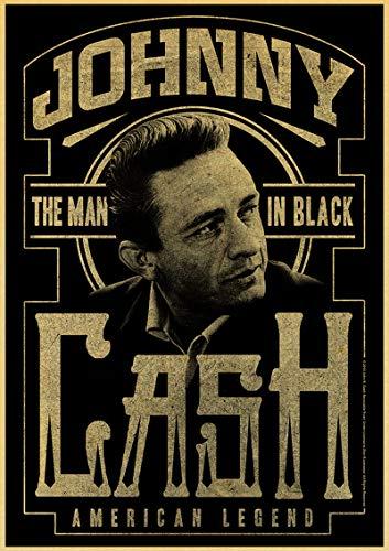 Johnny Cash Vintage Poster Portrait Poster Celebrity Wall Decor Gift for Friends Vintage Print Home Decor Wall Decor Music Poster Country Music Poster Vintage Portrait Paper Poster