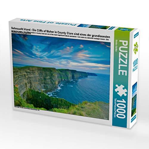 CALVENDO Puzzle Sehnsucht Irland - Die Cliffs of Moher in County Clare sind eines der grandiosesten Naturschauspiele 1000 Teile Lege-Größe 64 x 48 cm Foto-Puzzle Bild von Mr.Mooseman