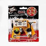 Griff und Tricks – Fingerscooter mit Mini-Scooter-Werkzeugen und Mini-Griffbrett-Zubehör – Pack 1 weißes Fingerspielzeug für Kinder ab 6 Jahren