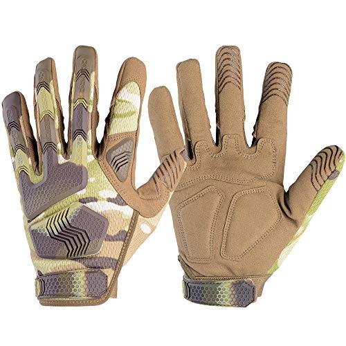 WTACTFUL - Guantes de dedo completo para motocicleta, ciclismo, escalada, camping, caza, senderismo, trabajo, Hombre, color camuflaje, tamaño M