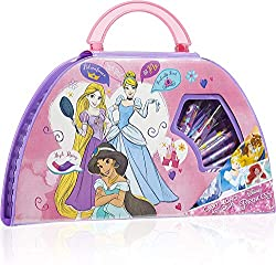DISNEY PRINCESS CARRY ALONG ART CASE --- no one knows when inspiration will strike, for this reason we have made this fantastic art case that contains all of the artistic supplies your little artist could need wherever she goes! The beautiful pink su...
