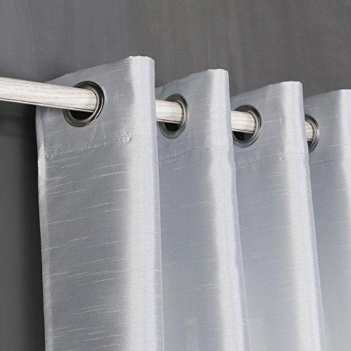 cortinas blancas semitranslucidas