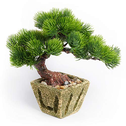 Artificial Bonsai Tree – Indoor Artificial Bonsai Tree Decoration, Japanese Inspired Fake Bonsai for Home and Office Decor, by Golden Forest