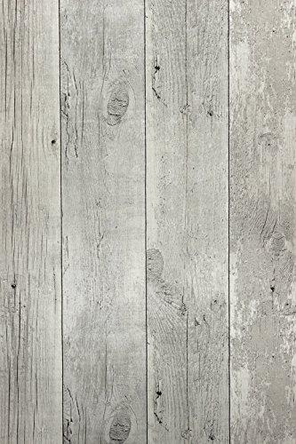 Vlies Tapete Antik Holz rustikal verwittert creme grau vertäfelung 68615