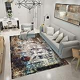 DHKJ Tapis de Sol Simple pour Salle de séjour, Chambre à Coucher, en Fibre de Polyester (Polyester) 70 x 140 cm