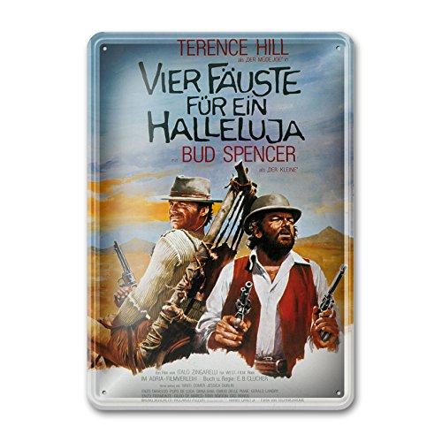Bud Spencer® - Filmplakat/Vier Fäuste für EIN Halleluja - Blechschild (30X23cm)