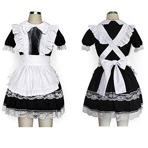 ZLLZM Damen Sexy Hausmädchen Kostüms Cosplay Lolita Maid Costume Sexy Transparente Reizwäsche Babydoll,XXL