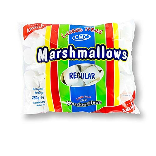 Little Treat Marshmallows regular, super fluffiger Schaumzucker, zum Grillen oder so essen, Partyspaß, 1er Pack (1 x 280 g)