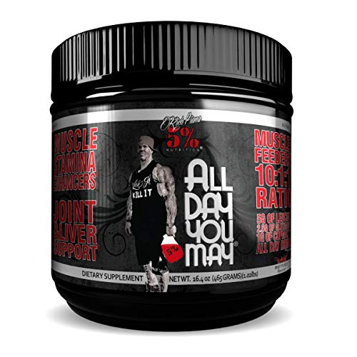 5% Nutrition - Rich Piana All Day you May (30 serv) Fruit Punch er Pack Ohne Pfand, 465 g