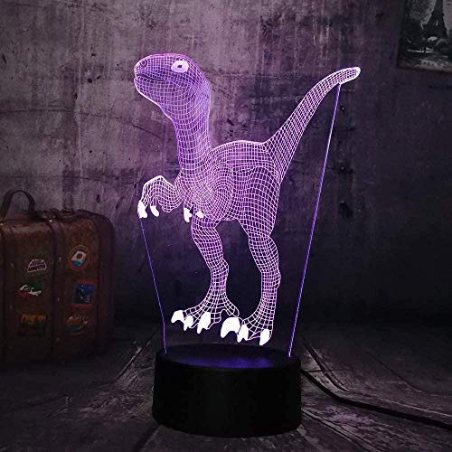 lampara quitamiedos infantil lampara 3d Adecuado para dormitorio, habitación de niños, sala de estar, barra, carga USB táctil de 7 colores