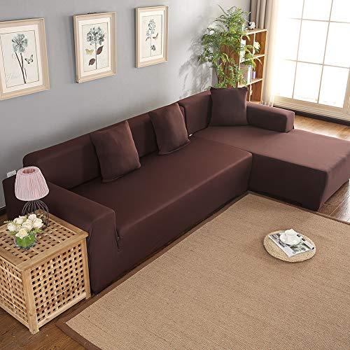 Wakects Funda para sofá esquinero con Chaise Longue a la Izquierda/Derecha, con Chaise Longue elástico de 3 + 2 plazas