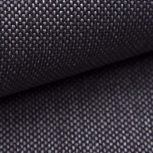 NOVELY® MUDAU | Polsterstoff | Meterware | Möbelstoff | Webstoff | Struktur-Stoff | Mélange | Grober Handwebcharakter | 26 Farben (10 Graphit)