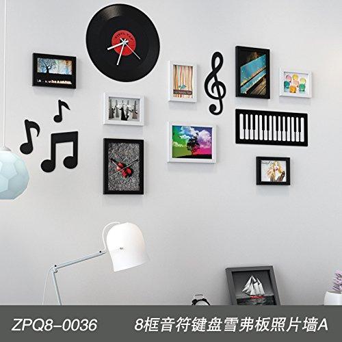 Bilderrahmen*Euro-banknoten Tastatur Foto wand Dekoration Wohnzimmer Wand Foto rahmen kreative Kombination von Einfachheit und 8 Wall Box Tastatur Foto wand Akzent ein