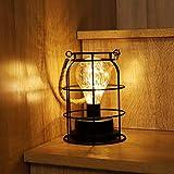 SALCAR LED Laternen licht mit Kupferschnur, 20 LEDs Lampe LED Nachtlicht mit Seilgriff, Stromversorgung über USB oder Batterie, Schreibtischlampe - warmweiß
