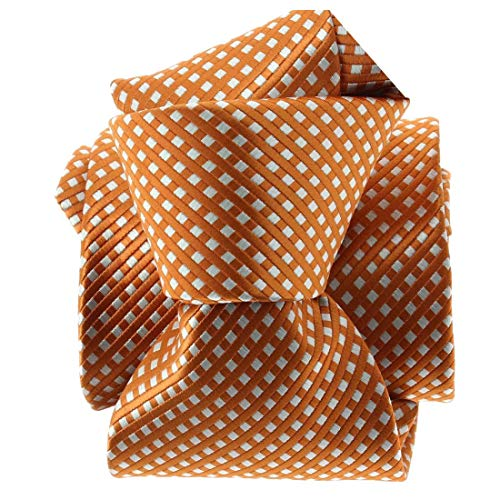 Clj Charles Le Jeune. Cravate. CITY, Microfibre. Orange, Discret et sobre.