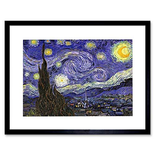 Vincent Van Gogh Starry Night Old Master Painting Art Framed Art Print F12X1627