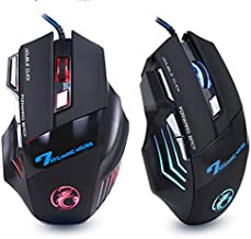 AcmePersonal ESTONE X7 7 Button Colorful Light Optical USB Wired Professional E-Sports Mouse (Black)