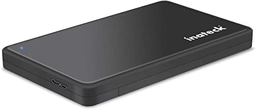 Inateck Festplattengehäuse 2.5 Zoll USB 3.0 für 9.5mm 7mm SATA SSD HDD, Werkzeuglos