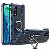 TANYO Cover per Xiaomi Mi 10T Lite, Custodia TPU Silicone con Supporto, Protettiva Armor Custodie con Antiurto Bumper, Case Protezione Armour Caso, Blu