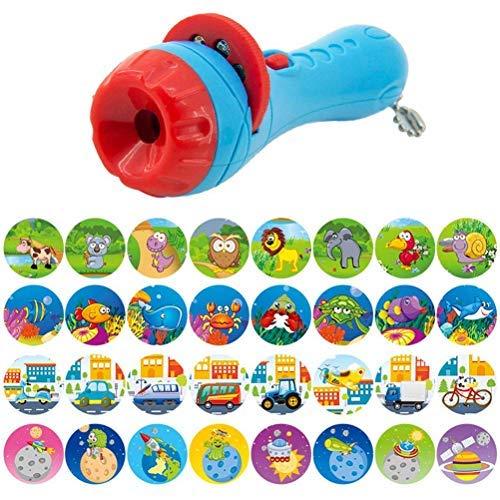 Yousir Historia de los niños Linterna Proyector de Diapositivas Proyector de Juguete Diapositiva Historia para Dormir del bebé Juguete de educación temprana Niños Vacaciones Regalo de cumpleaños