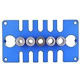 Kit di maschere per fori tascabili, ghiera di posizionamento del punzone posizionatore di perforazione per leghe di alluminio 08650, strumenti di guida per la perforazione della lavorazione del legno