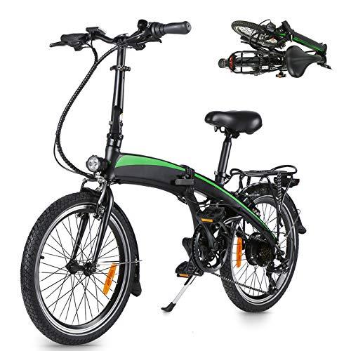 Bicicleta Plegable electrica Adultos Bicicleta Plegable Bicicleta eléctrica de Altura Regulable Bicicleta eléctrica con batería extraíble Adecuado para Adolescentes y Adultos.