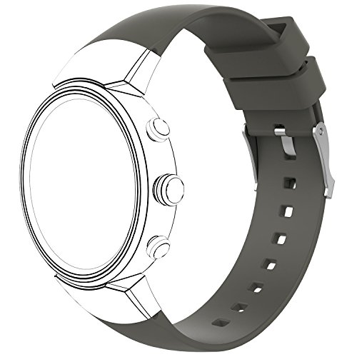 AWINNER Sport Bands for ZenWatch 3,Replacement Band Perforated Breathable Accessories Fitness Wristband Fashion Strap for ASUS WI503Q-SL-BG ZenWatch 3 Women Men (Gray)